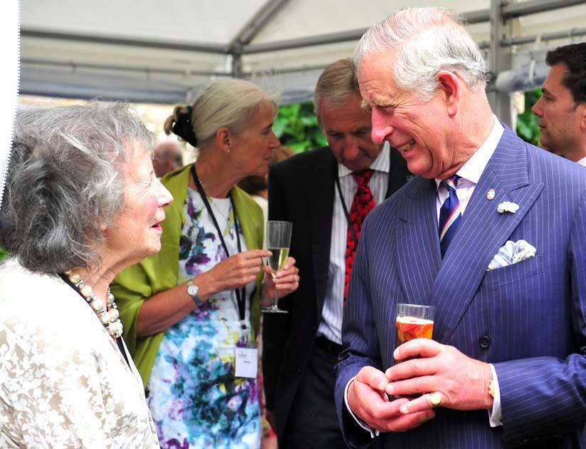Prince of Wales in a Clifton Marquee Company marquee