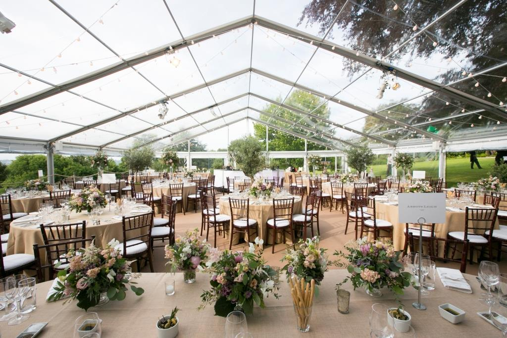 Clear roofs and window walls to enable guests to see their beautiful surrounding at this wedding in Bristol