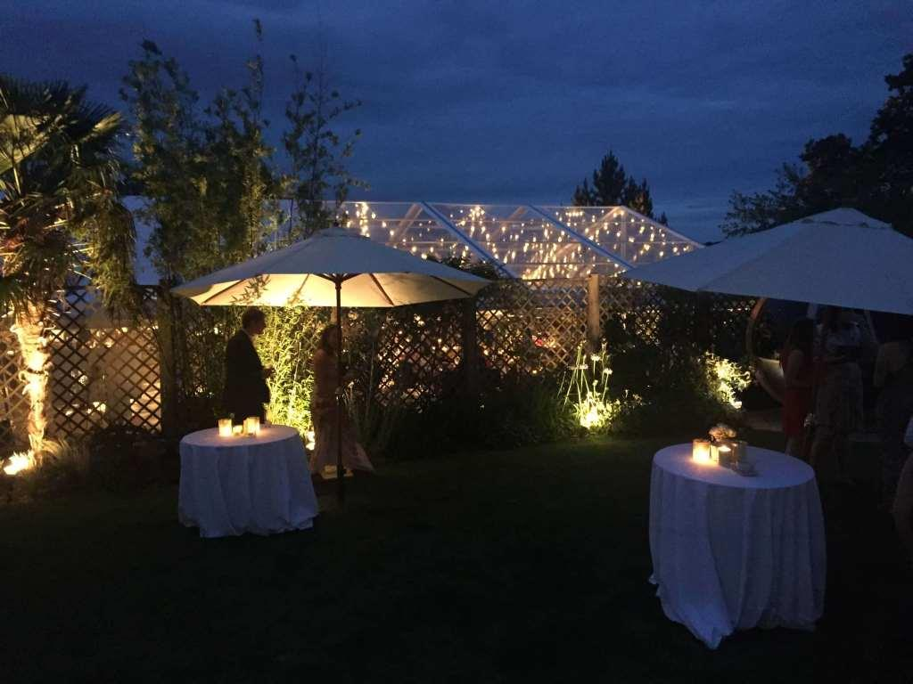 See how the marquee glows as the festoon lights shine at this Bristol based wedding