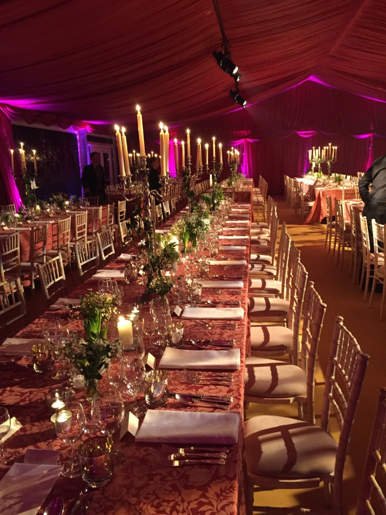 Trestle tables dressed to perfection at this marquee wedding
