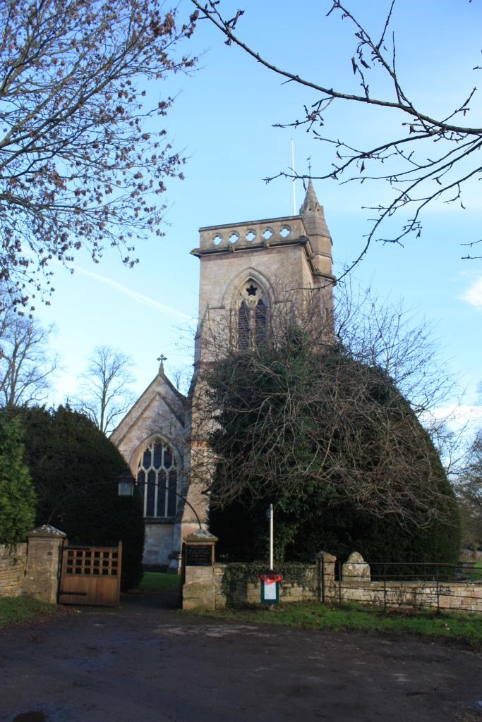 Beautiful church where the bride and groom got married in Shipton Moyne