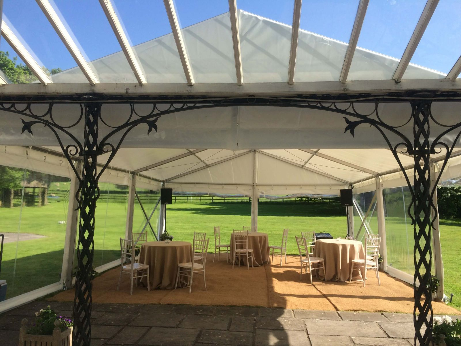 Matting floor for a rustic, casual marquee event in Bristol