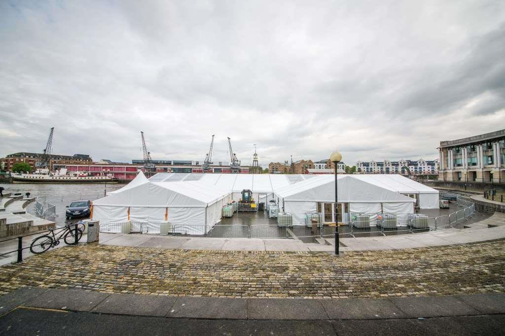 In just a couple days, the large marquee structure was built - impressive hey!?