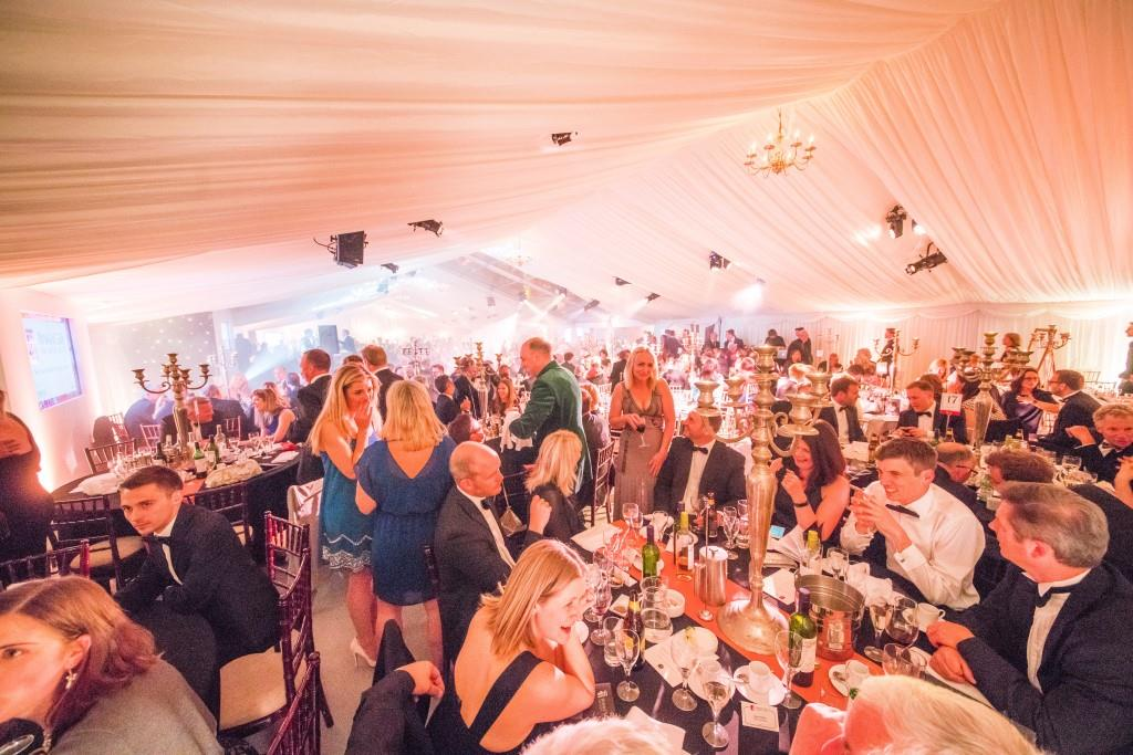 Guests enjoying themselves, in our beautifully lit Bristol Life Awards Marquee